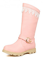 Women's Shoes  Low Heel Round Toe Boots Casual Pink / Red / White