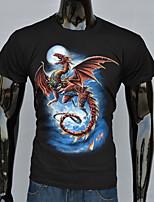 3D dragon t-shirt influx of men