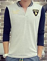Men's Round Collar Printing Fashion Shirt