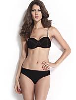 Bikinis Aux femmes Couleur Pleine Soutien-gorge Rembourré Licou Polyester / Spandex