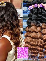 estensioni dei capelli ombre 6a malesi capelli vergini dell'onda sciolti prodotti per capelli cara 3pcs due tonalità 1b / 30 capelli ombre