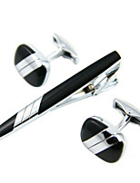 French style business cufflinks and tie clip Jewelry