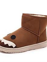 Calçados Femininos - Botas - Botas de Neve / Arrendondado / Bico Fechado - Salto Baixo - Vermelho / Cinza / Khaki - Camursa -Ar-Livre /