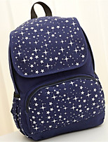 Unisex Canvas Baguette Backpack - Pink/Blue/Black