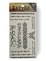 King Horse® Temporary Tattoo RF40 5sheets  Wedding White Tattoo Stickers  Non Toxic/Wedding /Hawaiian