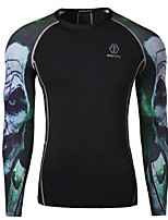 Men's Outdoor Wicking Breathable Jersey T-Shirt , Cotton / Polyester Casual / Plus Sizes Print