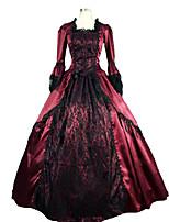 steampunk®marie antonieta gótico brocado periodo vestido teatro vestido de baile colonial