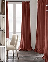 TWOPAGES Premium 100% natrual Linen Pinch Pleated Curtain Drapery (One Panel)