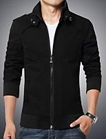 Men's Long Sleeve Jacket , Cotton Plus Sizes Pure