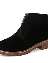 Chaussures Femme - Décontracté - Noir / Rouge / Kaki - Talon Bas - Bout Arrondi - Bottes - Similicuir