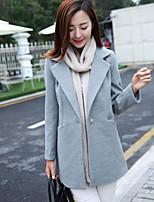 Damen Mantel  -  Leger Langarm Tweed