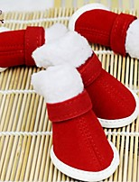FUN OF PETS® Christmas Festival  Style Nylon Fastener Tape Shoes for Pets Dogs (Assorted Sizes)