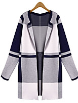 Women's Patchwork Multi-color Cardigan , Casual Long Sleeve