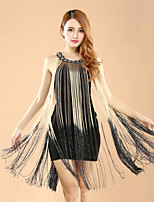 Latin Dance Dresses Women's Performance Polyester / Lycra Color Block Tassel(s) 1 Pieces