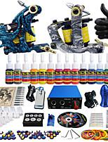 solong tattoo compleet tattoo kit pro 2 machinegeweren 14 inkten voeding naald grips