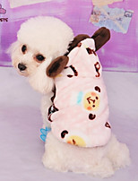 FUN OF PETS® Lovely Cartoon Sheep Printing Fleece Hoodies for Pets Dogs (Assorted Sizes and Colours)