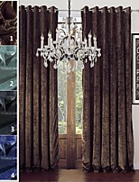 TWOPAGES Sophia Collection Solid Chenille Rayon Blend Heavy Weight Curtain Drape (One Panel)