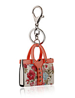 2016 Flower Key Chain Delicate Orange Crystal Handbag Jewelry Car Keychain Women Charm Holder Key Ring Wholesale
