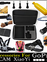 12 in 1 Gopro Accessories Set With Floating Chest Head Helmet Strap Bags for Xiaomi SJCAM Sj4000 Go Pro Hero 2 3 4