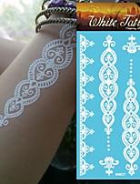 King Horse®Henna Stickers  Non Toxic/Wedding /Hawaiian  20.5*10cm Flower Series 5pcs
