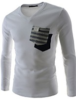 Men's Long Sleeve T-Shirt , Cotton Casual / Sport Pure