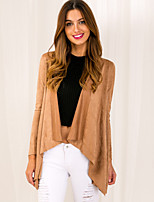 Women's Vintage Casual Party Work Long Sleeve Solid Brown Cardigan