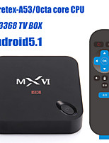 Vakuan-RK3368 TV BOX Android 5.1  4K  H.265 Octa Core 3368 Cortex A53 GPU maximum 600MHZ frequency, OpenGL ES3.1/Op,KODI