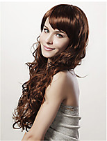 Popular Style Wig Fashionable Color Brown Synthetic Wig Extesions Girls' Daily Lovely