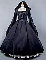 Steampunk®Top Sale Black Gothic Victorian Dress Hooded Dress Long Halloween Costume