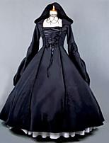 venta steampunk®top negro gótico vestido encapuchado vestido victoriano larga disfraz de Halloween