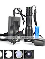 Lanternas LED (Foco Ajustável / Prova-de-Água / Recarregável / Resistente ao Impacto / Bisel de Golpe / Tático / Emergência / Zoomable)