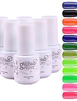 YeManNvYou®5pcs Sequins UV Color Gel Nail Polish Suit No.73-84(5ml, 3PCS Nail Polish +1PCS Base Coat + 1PCS Top Coat)
