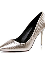 Women's Shoes Stiletto Heel Heels / Pointed Toe / Closed Toe Heels Dress Black / Silver / Gray / Gold