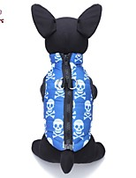 FUN OF PETS® Cool Halloween Skull Pattern Cotton-Padded Vest Dog Clothes for Pets Dogs (Assorted Sizes)
