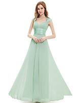 שמלה לשושבינה  - תלתן קו A - המלכה אן - אורך עד לרצפה - שיפון