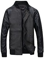 Men's Long Sleeve Jacket , Linen Casual Pure