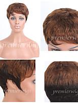premierwigs doble tono mayoristas brasileños pelucas de cabello humano virgen 8a sin tapa pelucas rizadas cortas para las mujeres negras