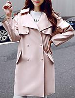 Damen Mantel  -  Retro Langarm Polyester