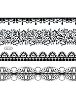 BlackLace Henna Body Temporary Sexy Tattoos Sticker For Women,Teens,Girls(4 Patterns in 1 Sheet) J012