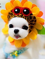 FUN OF PETS® Cute Sunflower Shape Cosplay Pet Headgear for Pets Dogs and Cats (Assorted Sizes)