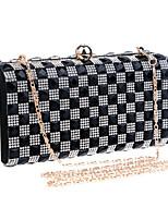 Women Polyester / Metal Minaudiere Clutch / Evening Bag - Black
