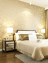 Contemporary Wallpaper Art Deco 3D Leaf Wallpaper Wall Covering Non-woven Fabric Wall Art