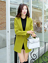 Damen Mantel  -  Leger / Arbeit Langarm Wolle