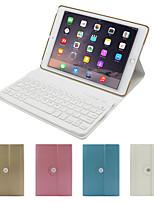 Для Чехлы панели со стендом с клавиатурой Флип Поворот на 360° Чехол Кейс для Один цвет Твердый Искусственная кожа для iPad Air