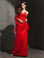 Formal Evening Dress - Ruby Plus Sizes / Petite Sheath/Column Spaghetti Straps Floor-length Satin