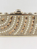 Women Satin Flap Clutch / Evening Bag - Gold / Silver / Black