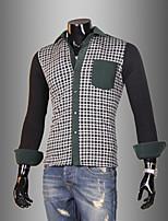 Men's Long Sleeve Shirt , Cotton Casual / Work Plaids & Checks