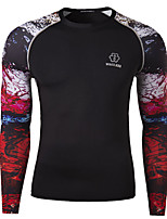 Men's 3D Printing Tight T-Shirt , Cotton / Polyester Casual / Plus Sizes Print