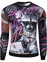 Sweatshirt Homme Décontracté / Quotidien Imprimé Col Arrondi Micro-élastique Coton Manches longues Automne Hiver