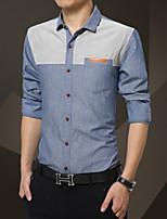 The new shirt sleeved autumn Korean Levis men Lapel size business casual wear